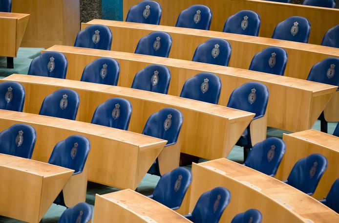 Twee maanden lang bleven de stoelen in de plenaire zaal van de Tweede Kamer leeg.