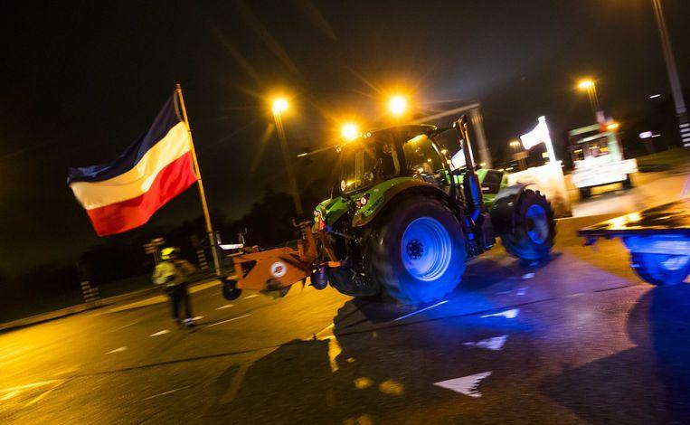Half december voerden de boeren voor het laatst een landelijke actie.  Beeld ANP