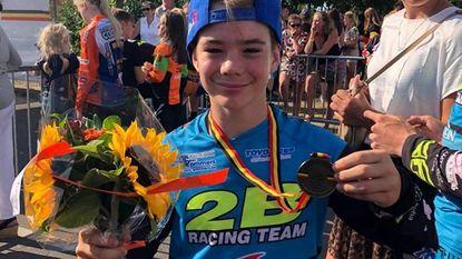 Gilles (12) pakt brons op Belgisch kampioenschap BMX