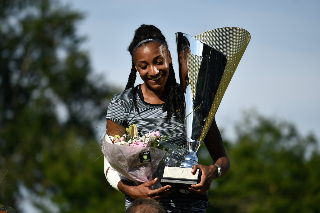 Podium Femme Vainqueur Nafissatou Thiam (bel) ATHLETISME : 2emeJournee du Decastar - Talence - 23/06/2019 © PanoramiC ! only BELGIUM !