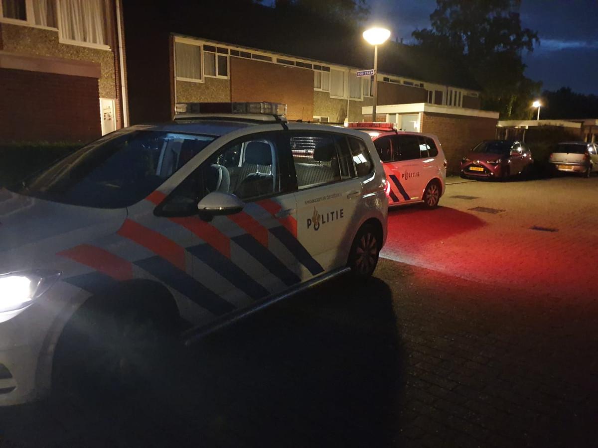 De politie is massaal aanwezig in Hengelo