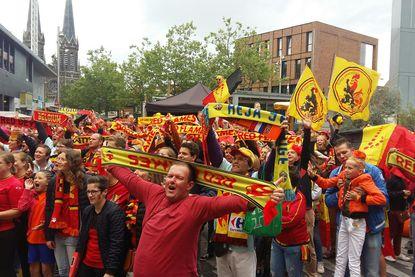 Duizenden Belgische fans nemen Tilburg over met clash tegen Nederland in zicht