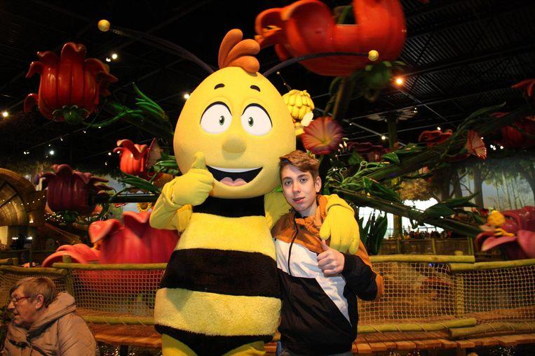 Brandon Marboux ontmoet animatiefiguur Willy.
