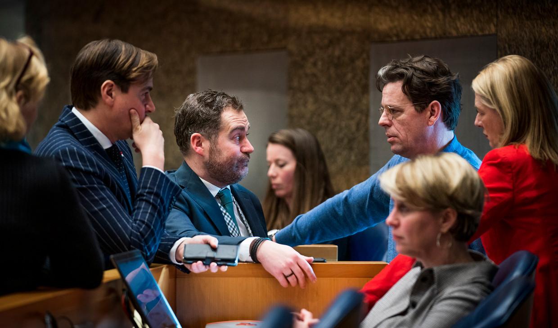 Klaas Dijkhoff dinsdagavond laat na overleg met de fractie.