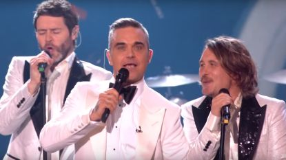 Robbie Williams voor even herenigd met Take That
