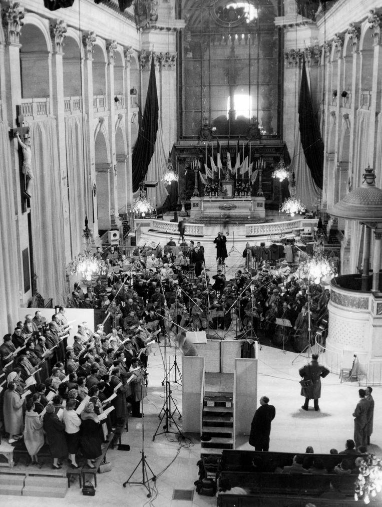 Een opvoering van Requiem in 1958, Parijs. Beeld AFP