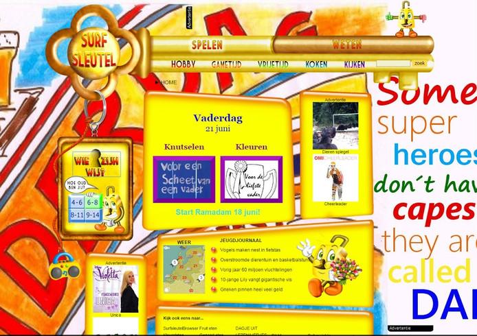 Screenshot van de website, die meer dan achtduizend pagina's heeft.