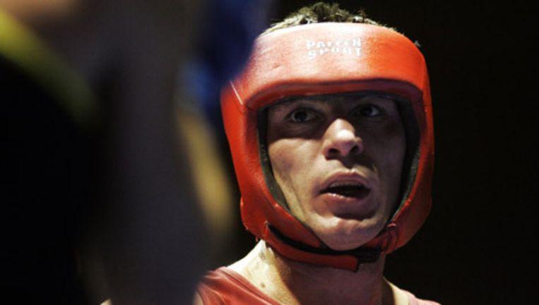 De Nederlandse amateurbokser Dimitri Serdjoek won maandagavond in Carré zijn laatste officiële wedstrijd. Archieffoto ANP Beeld