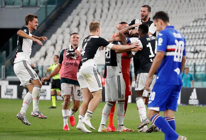 Juventus viert feest na de negende landstitel op rij.