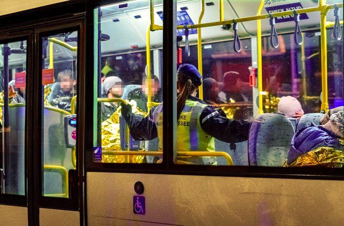 De verstekelingen werden in november vorig jaar met oude RET-bussen afgevoerd.
