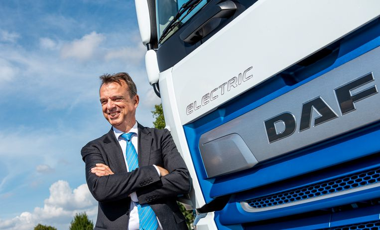 Daf-directeur Ron Borsboom: 'Verbrandingsmotoren op waterstof zijn heel aantrekkelijk en duurzaam voor de lange afstand.' Beeld rv