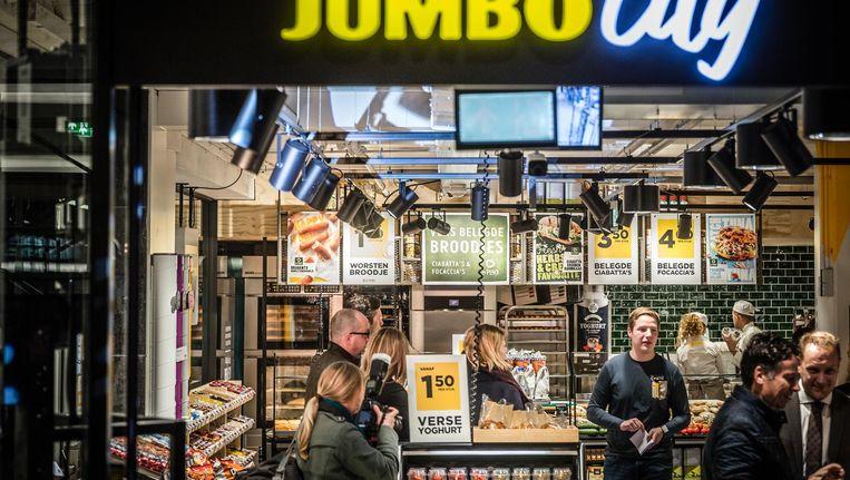 De eerste stationswinkel van supermarktketen Jumbo in Eindhoven. Beeld null