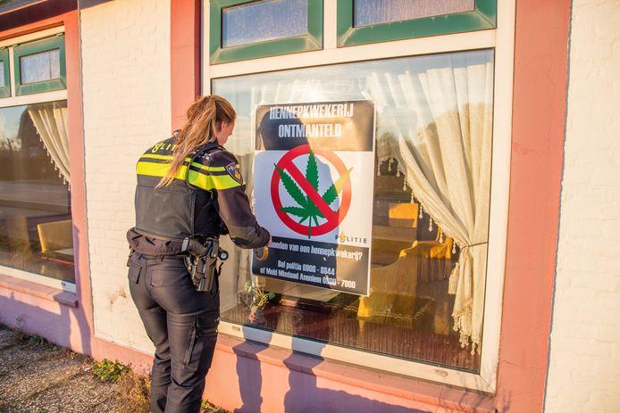 In het voormalige wokrestaurant in Ewijk werd in januari van dit jaar een wietkwekerij opgerold.