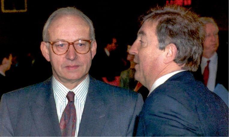 Guy Spitaels (links) en Guy Mathot (rechts) móéten geweten hebben dat Van der Biest de moord op mijn vader aan het voorbereiden was. Maar ze hebben het laten gebeuren. Beeld