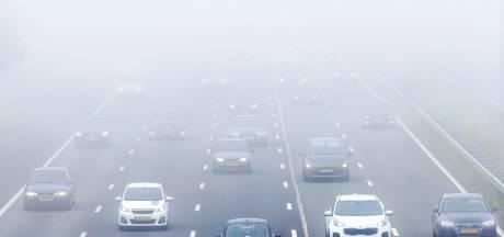 Waarschuwing voor dichte mist, code geel in zeven provincies