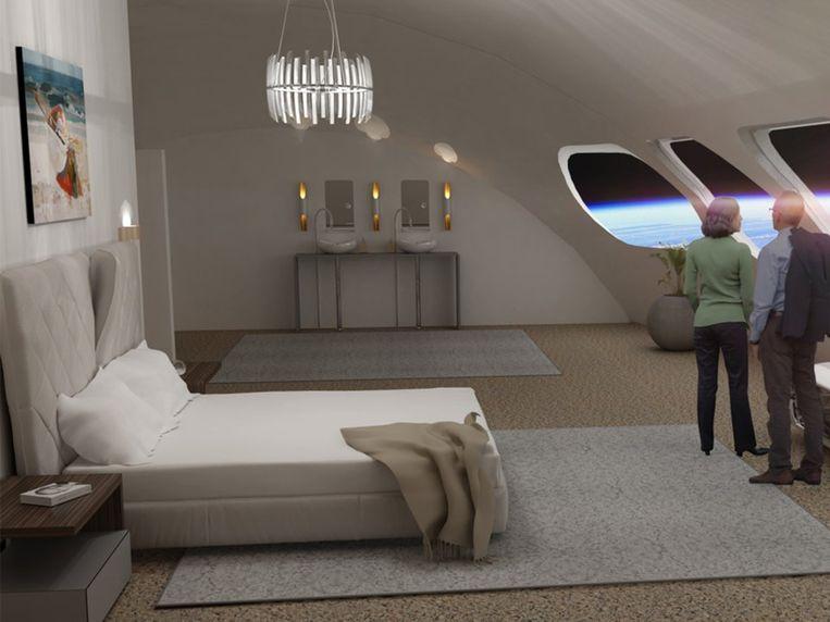 Een prototype van een kamer in het Von Braun Station.