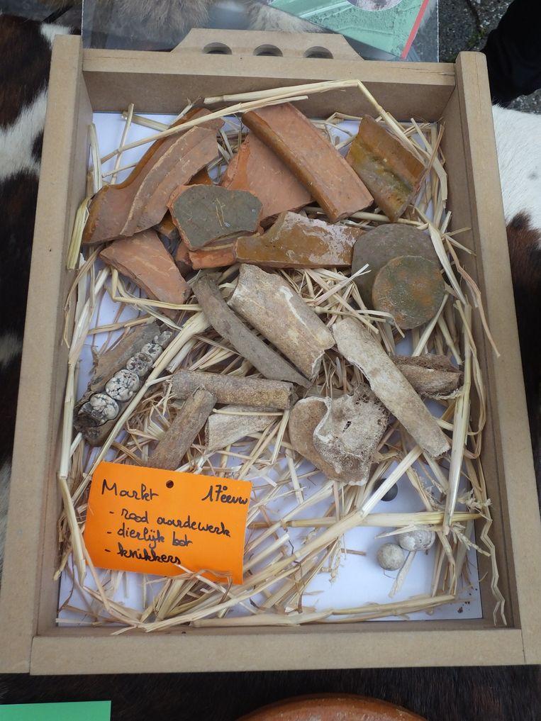 Ook deze vondsten werden gedaan op de Markt.