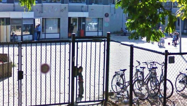 De orthodox-joodse scholengemeenschap Cheider in Amsterdam Buitenveldert. Beeld Screenshot Google Streetview