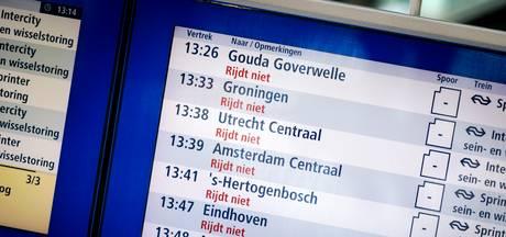 Mega uitval treinen bij NS in 2017