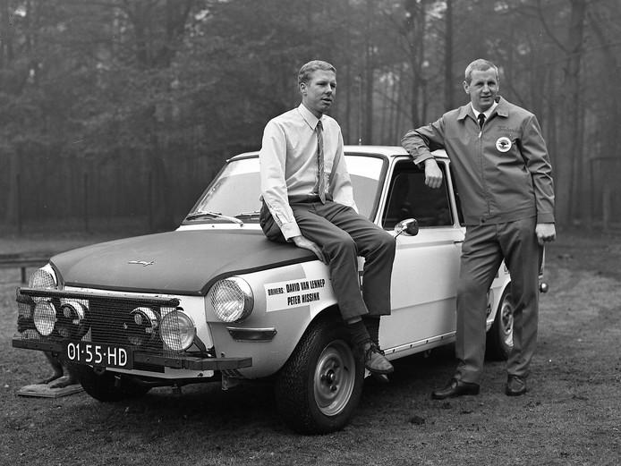 DAF rallyrijders David van Lennep (links) en Peter Hissink