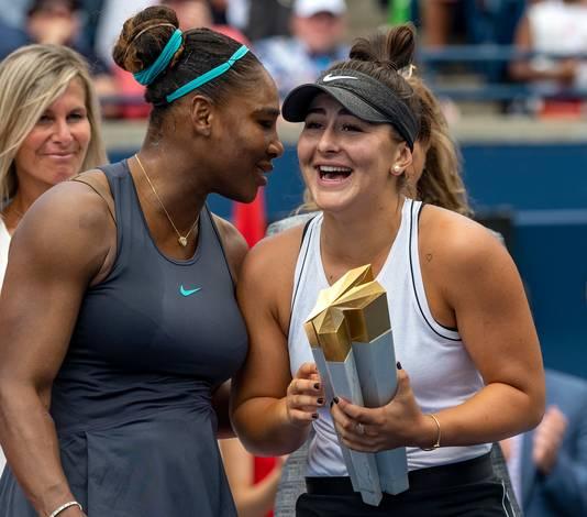 Serena Williams en Bianca Andreescu.