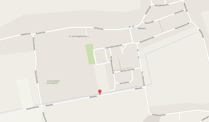 Het gebied tussen de Mayweg en de Kerkstraat in Elshout.