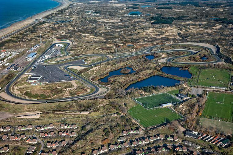 Een luchtopname van Circuit Zandvoort.  Beeld ANP