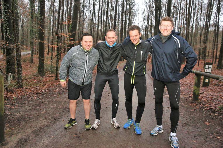 Lorenzo Maggio, Joris Van Cauwenberge, Bram Luyckx en Niko Tiels kunnen nu verder trainen voor hun 100km-run.