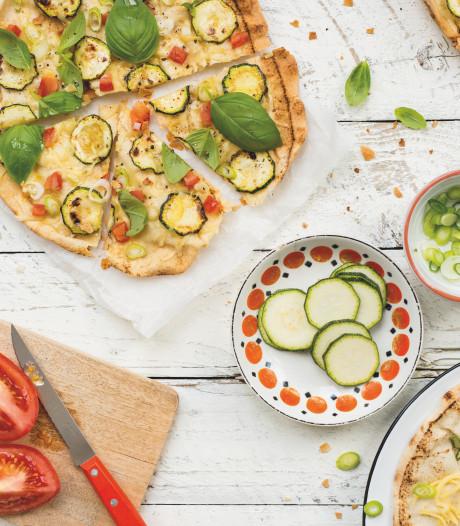 Wat Eten We Vandaag: Snelle pizza met courgette