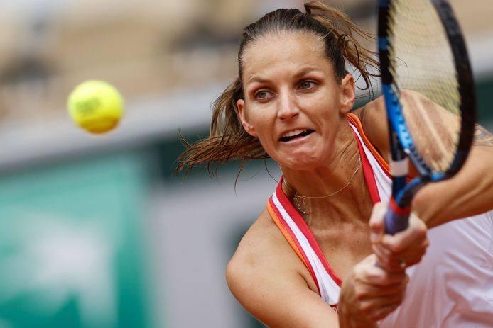 Karolina Pliskova had het zwaar tegen Mayar Sherif.