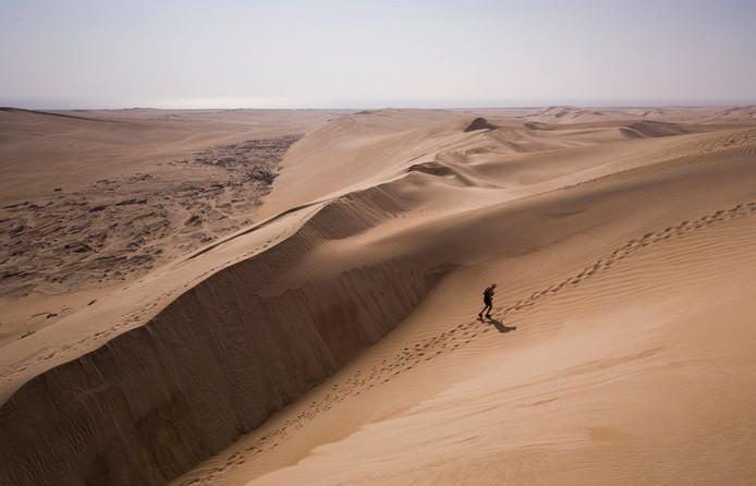 Het parcours bestond voor 80 procent uit los zand en uit hoge heuvels.