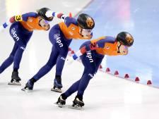 Zilver voor schaatssters op ploegachtervolging, goud weer voor Japan