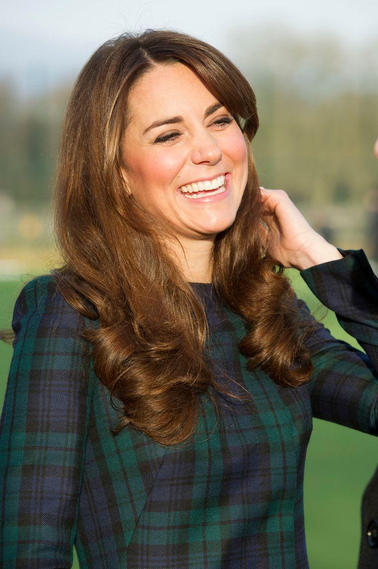 Kate Middleton vorige week vrijdag in Pangbourne. Beeld ap