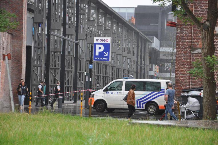 Het winkelcentrum Dok Noord moest ontruimd worden.