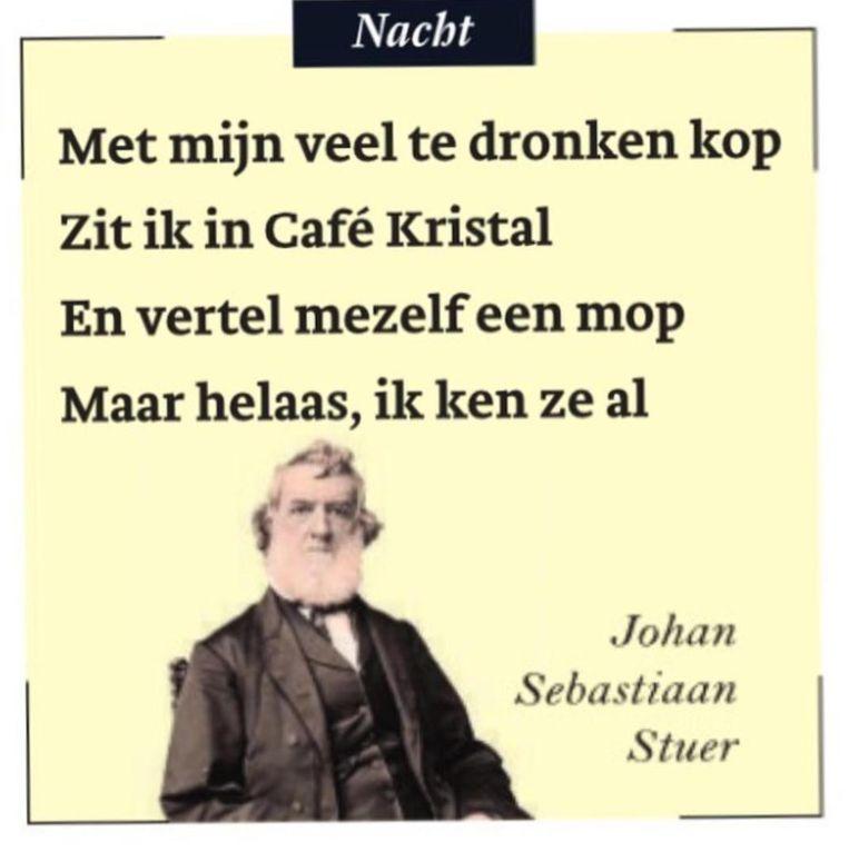 Een van de 'literaire karamellenverzen' van Johan Sebastiaan Stuer.