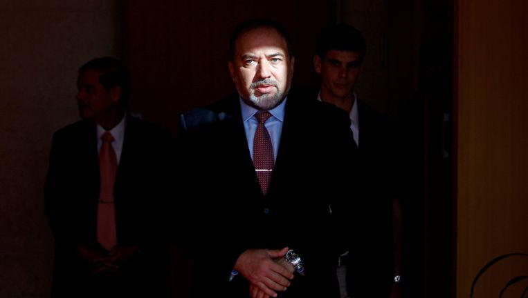 Avigdor Lieberman in zijn tijd als minister van Buitenlandse Zaken: 'Ik vind het positief om controversieel te zijn.' Beeld null
