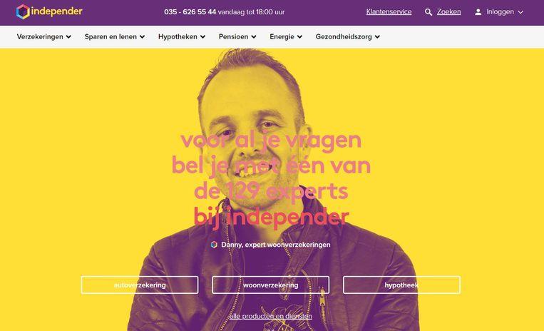 De website van Independer. Beeld