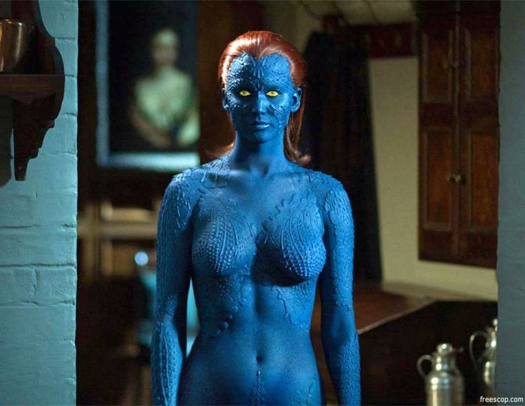 Jennifer Lawrence als Mystique in X-Men. Beeld