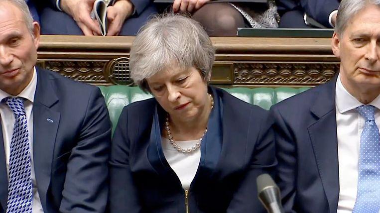 Premier Theresa May. Beeld