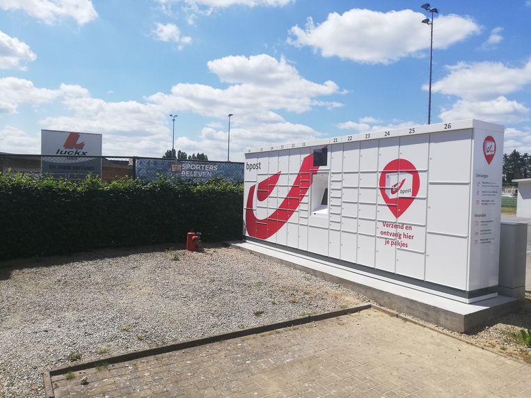 De pakjesautomaat aan de sporthal in Herne staat er al.