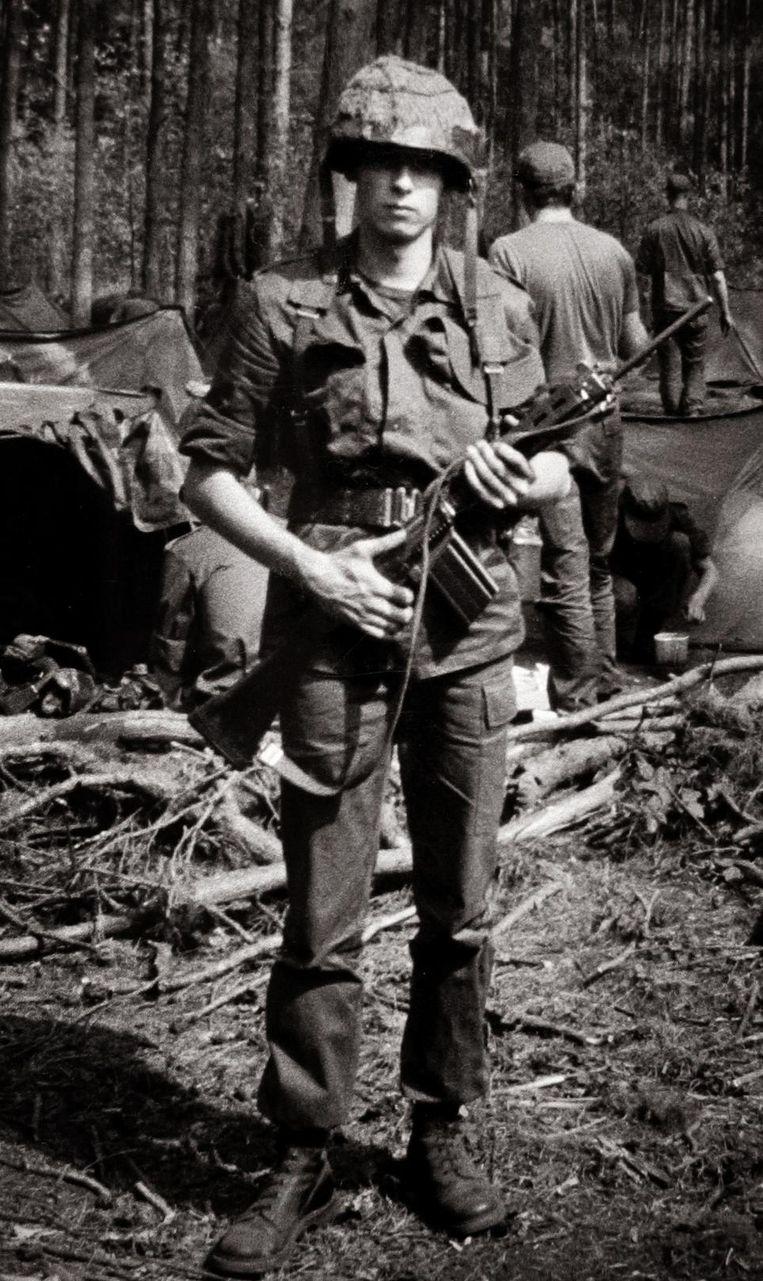 Bart Leye tijdens zijn 'tour of duty' in 1990.