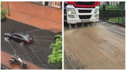 VIDEO: Hevig onweer zorgt voor wateroverlast in Oost- en West-Vlaanderen, noodnummer 1722 tot morgenmiddag actief