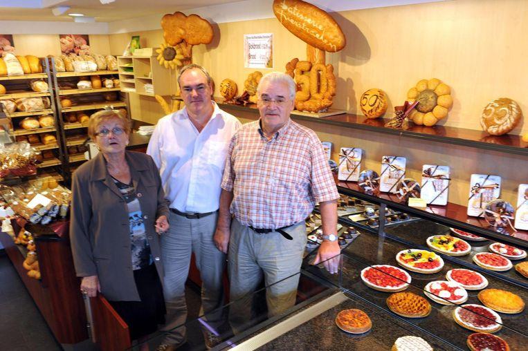 Patrik Verstaelen bij het 50-jarige bestaan van de bakkerij.