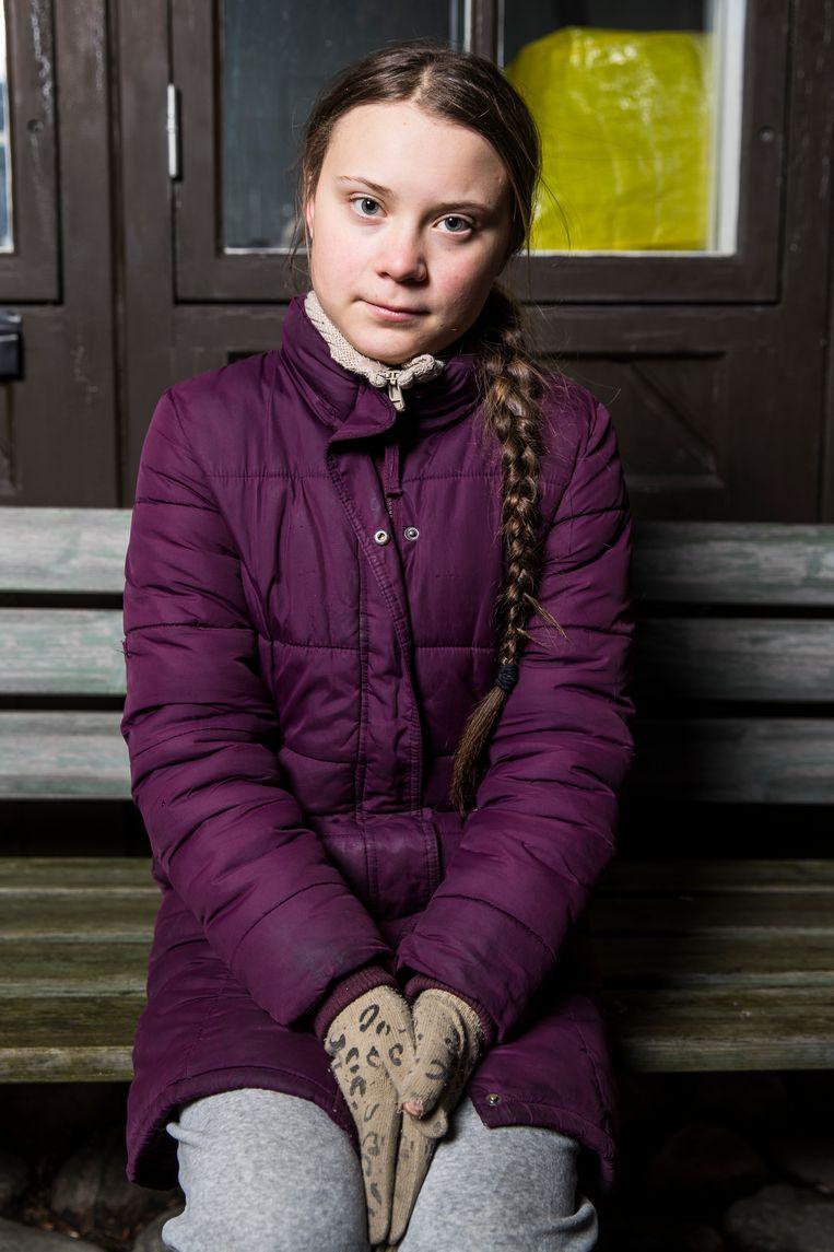 In I Am Greta vertelt Thunberg dat ze soms tijdens haar toespraken het gevoel heeft dat haar microfoon niet aanstaat.  Beeld Getty Images