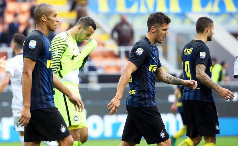 Door de nederlaag tegen Cagliari zakt Inter naar de elfde plaats in de Serie A. Beeld epa