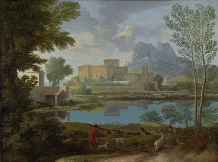 Nicolas Poussin, Landscape with a Calm (1650-1651). Beeld Foto Getty Museum