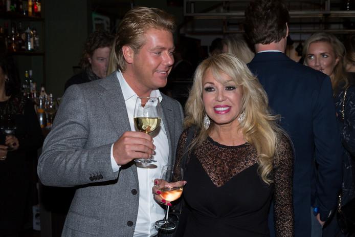 Patricia Paay met haar echtgenoot Robbert Hinfelaar.