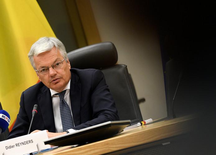 Didier Reynders lors de la conférence de presse des informateurs ce 6 juin.