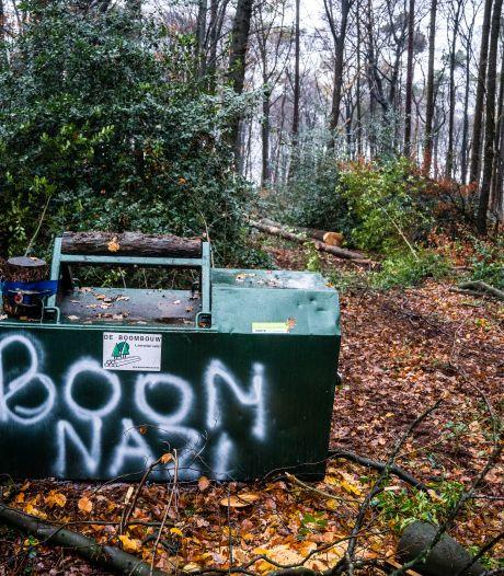 Arnhems bomenconflict verhardt: 'boomnazi' op machines van bosbouwers geklad
