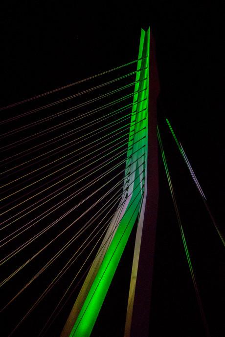 Daarom kleurt de Erasmusbrug vanavond groen